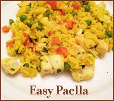Healthy Meal Planning - Seafood and Chicken Paella