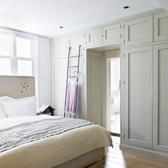 Great way to divide our bedroom to create storage and a doorway through to an en-suite.