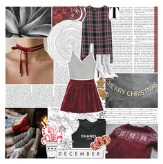 """Merry Christmas!"" by lucidmoon ❤ liked on Polyvore featuring Chanel, MANGO, Vetements and Silent Night"