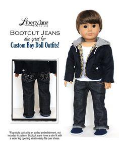 Jeans Bundle 18 inch Doll Clothes Pattern PDF Download   Pixie Faire