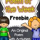 Poetry {Poem of the Week} Freebie  Poetry and shared reading are a great match to help build reading fluency, word work skills and more! This is a ...