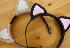 Easy DIY cat ears for Halloween