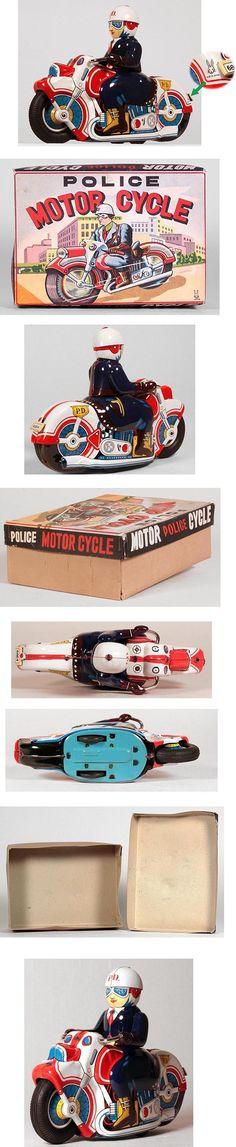 c.1955 Usagiya Toys, Police Motorcycle in Original Box