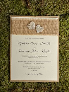 Rustic  Wedding Invitation County Style Wedding by DecorisWedding, $5.50
