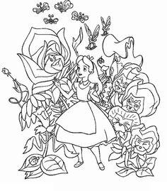 101 Meilleures Images Du Tableau Colorier Alice Au Pays Des