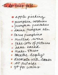 And this is why I love fall! Except this list needs to include football!!!