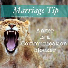 Consistently being angry is damaging to the trust, respect and love in your marriage.