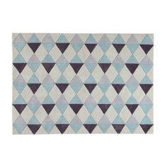 Tappeto blu in tessuto a pelo corto 140 x 200 cm NORDIC