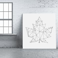 String-art pattern sheet BLAD 04 (80 x 76cm) available at spijkerpatroon.nl