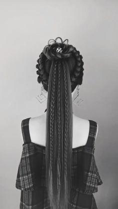 Pretty Hairstyles, Girl Hairstyles, Braided Hairstyles, Chinese Hairstyles, Easy Hairstyle Video, Hairstyle Ideas, Creative Hairstyles, Hair Videos, Bridesmaid Hair