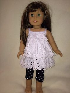 American girl doll sundress with capri by DollClothesByRoseAnn, $9.00