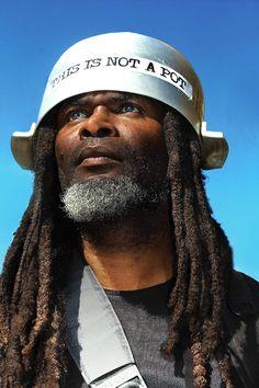 i don't know what's up with the hat, but that's one beautiful man