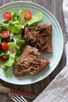 My easy recipe for lamb loin chops which can be made indoors or out!