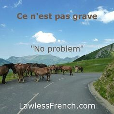 Ce n'est pas grave = No problem #learnfrench #fle Read the lesson and examples and listen to the pronunciation on the #lawlessfrench site (link in bio)