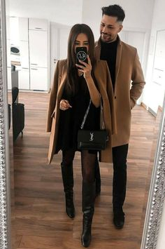#Womenfashin#Amazingfashiondesign#Modernfashion#Letestfashiondesign#Fashiondesignlovers# Matching Couple Outfits, Matching Couples, Cute Couples, Dinner Date Outfits, Night Outfits, Fashion Couple, Women's Fashion, Classy Couple, Classy Dress