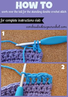 How To Join New Yarn with a Standing Double Crochet Stitch Oombawka Design Crochet