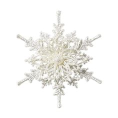 Crocheted Snowflake 2.png ❤ liked on Polyvore featuring christmas, winter, snowflakes, fillers, snow, backgrounds, embellishment and detail