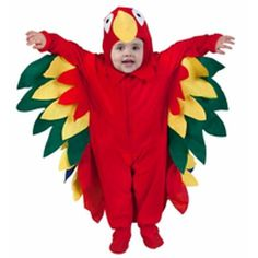 Do you want a clever, unique costume idea for your child? Our parrot costume features vivid colors like red, green, yellow, and blue on a fantastic design that will make your child cute as a can be. -