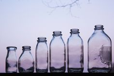 Red Hill General Store: Glass Milk Bottles
