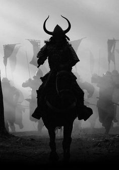 """A scene from """"The Last Samurai"""". What a warrior would have looked like. Intimidating on a horse! I can't imagine the fear common people would have had if they had done anything to anger a Samurai. Ronin Samurai, Samurai Armor, Kendo, Japanese Culture, Japanese Art, Bushido, The Last Samurai, Japanese Warrior, Samurai Tattoo"""