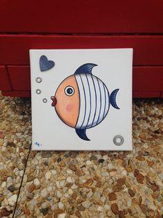 """Tableau """"Le petit poisson bleu"""""""