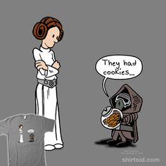 """Dark Side Cookies"" by Mike Cole What? They had cookies! Wouldn't you go to the dark side too? Princess Leia and Kylo Ren"
