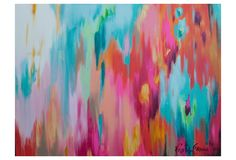 Swirls All Colours Canvas Painting | Temple & Webster
