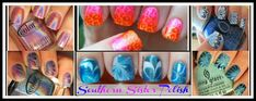 Hey everybody:) Today I wanted to show you something that I've wanted to try for a while. Water Marbling without water, yes you read that ri. Office Nails, Tie Dye Nails, Water Color Nails, Nail Art Stripes, Water Marbling, Pink Lemon, 4th Of July Nails, Happy Nails, Bling Nails