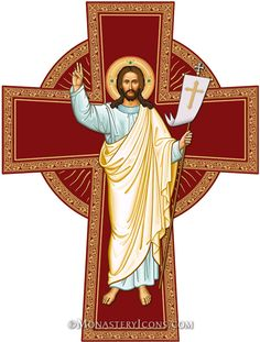 Risen Christ Cross from Monastery Icons www.monasteryicons.com