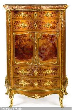 ZWIENER Joseph-Emmanuel - A Louis XV style side cabinet