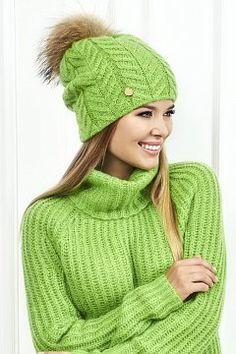 Фотография 2: . Коллекция: женская, бренд: Landre, фото. Цвет Зеленый, фотография. Состав: кидмохер 50%, полиакрил 18%, полиамид 32%.