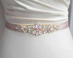 Bridal and occasion wear accessories Embroidery On Clothes, Bead Embroidery Jewelry, Beaded Jewelry Patterns, Fabric Jewelry, Beaded Embroidery, Couture Embroidery, Embroidery Fashion, Pink Opal, White Opal