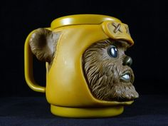 Vintage Wicket the Ewok Star Wars Figural 6oz Mug Cup 1997 Lucas Films Character #Applause
