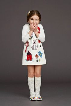 Let kids draw on their clothes and then stitch it in.... Kid's Wear - Dolce&Gabbana AW 2015/16