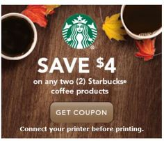 $4/2 ANY Starbucks Coffee Products Coupon (Back Again) - CincyShopper
