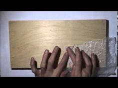 Mixed Media Tree Art TEXTURED WOOD PANEL BACKGROUND Part 1 of 3 - YouTube
