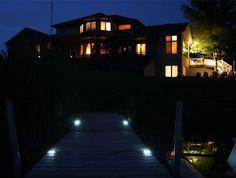 Marine Grade Solar LED Dock Deck Pathlight By Lakelite Inc Super B