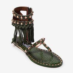 Ivy Kirzhner Gladiator fringe sandals