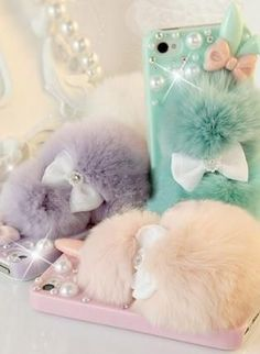 New Cute Chic Rabbit Fur Rabbit Shape iPhone Case,  Accessory, bling  crystal  rhinestones  iphone 5 case, Chic
