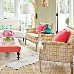 CHINOISERIE LIVING ROOM SNEAK PEEK AND KRAVET PELAGOS FABRIC FOR SALE