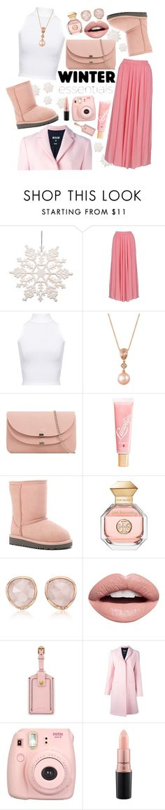 """Winter: Pink Snow"" by acagongora ❤ liked on Polyvore featuring WearAll, LE VIAN, Lano, UGG, Tory Burch, Monica Vinader, Nevermind, FOSSIL, MSGM and Fujifilm"