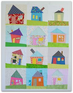 Wonky House Quilt by The Sewing Chick