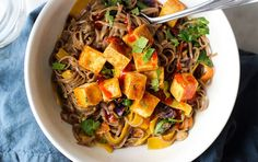 Vegan Curry Soba Noodles With Crispy Tofu | Recipe