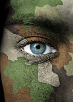 Camouflage Face Paint. Maybe I should try this.