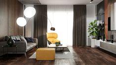 "Apartament 3 camere - Complex ""Nordis"" București - Creativ-Interior Interior, Minimalism, Curtains, Creative, Modern, Design, Home Decor, Granite Counters, Blinds"