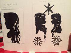 Disney princess silhouettes for my nieces room! #drawing #disney #tangled #rapunzel #elsaandanna #frozen