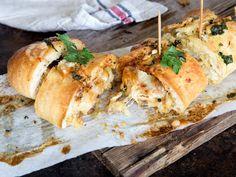 Crispy Chicken Baguette mit Knoblauchbutter und Parmesan