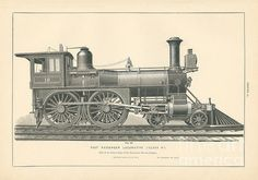 Fast Passenger Locomotive Fig. 22 Print By Mmg Archive Prints