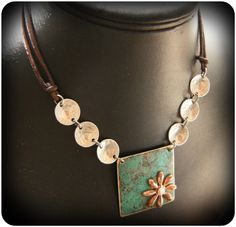 Rustic Patina Pendant by CoccoJewelry on Etsy, $23.50