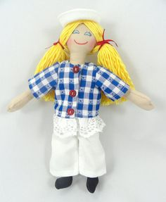 Sailor Girl Doll in Sailor Suit and Cap by JoellesDolls on Etsy